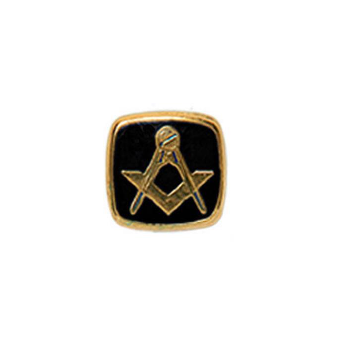 Square Black Masonic Tie Tac