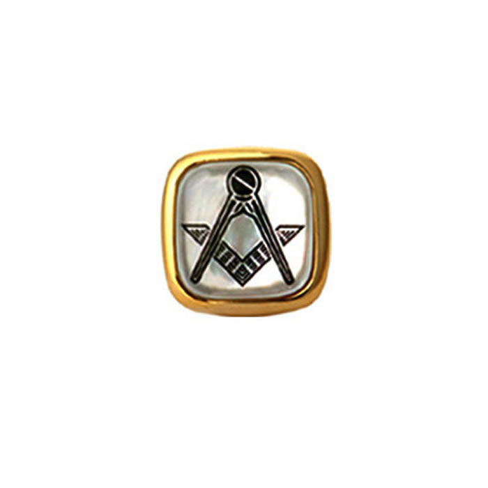 Mother Of Pearl Masonic Tie Tac