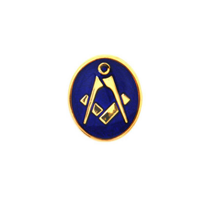 Oval Blue Masonic Tie Tac