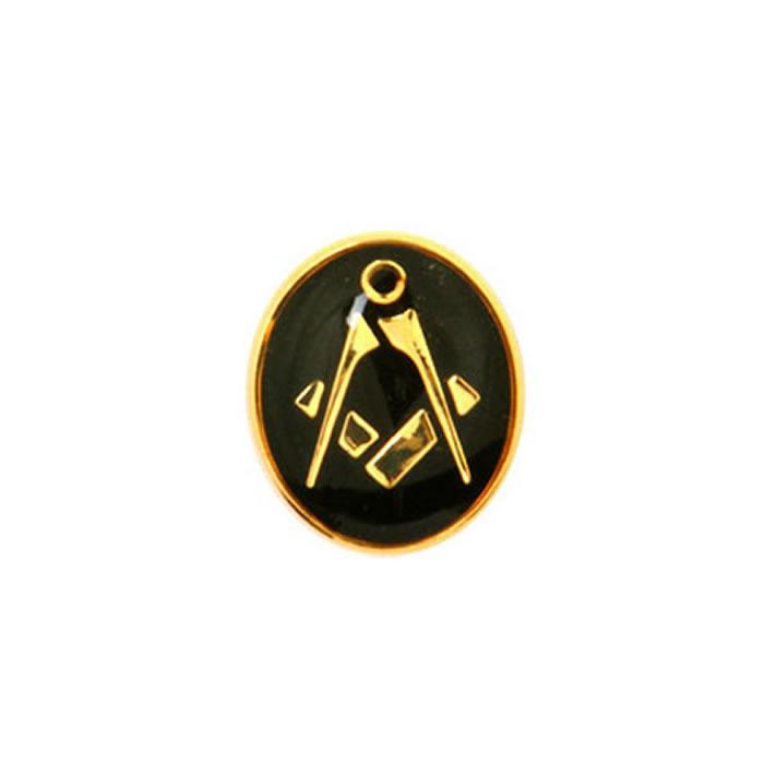 Oval Black Masonic Tie Tac