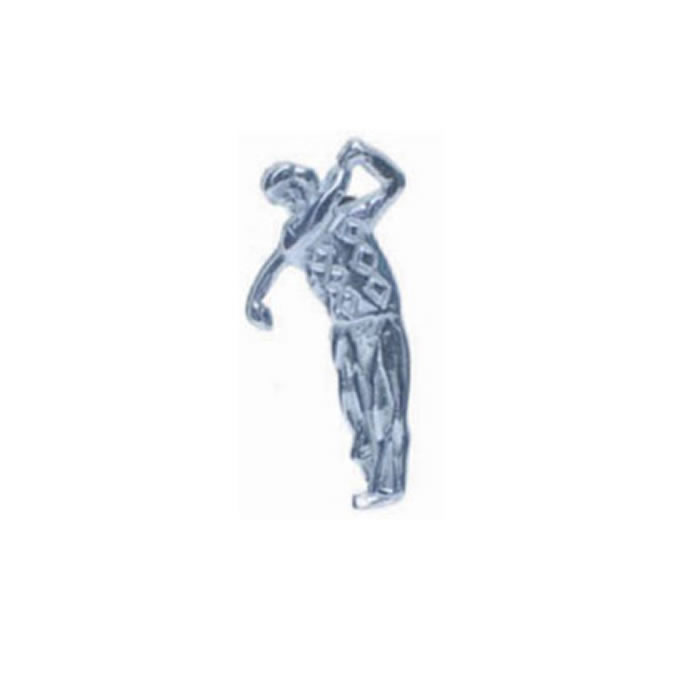 Golfer In Sterling Silver Tie Tac