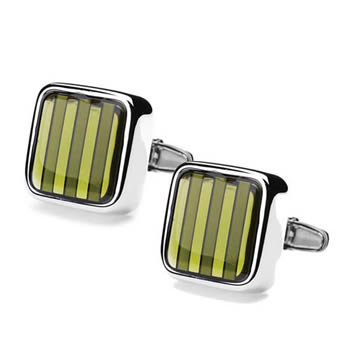 Kerry Green Stripe Dandy Spectrum Cufflinks