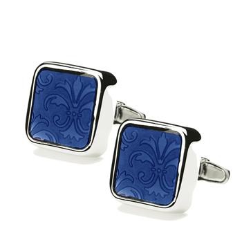 Blue Large Floral Blue Spectrum Cufflinks