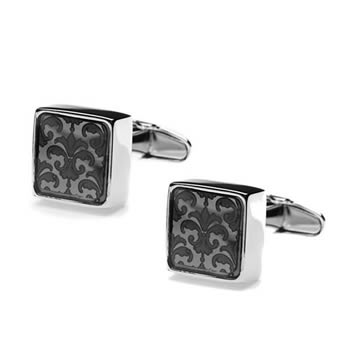 Graphite Floral Mindy Cufflinks