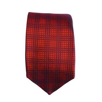 Ruby Tartan Woven Silk Tie