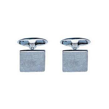 Sterling Silver Square With Scratched Finish Cufflinks