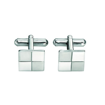 Square Chequered Cufflinks