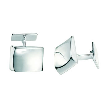 Sterling Silver Simple Rectangular Cufflinks