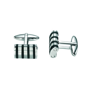 Stainless Steel Rubber Cufflinks