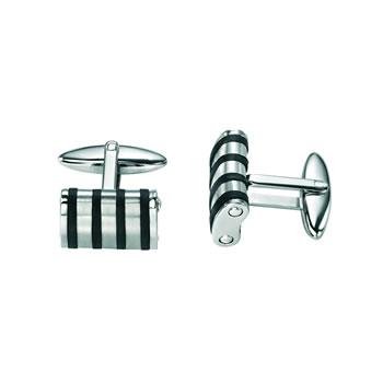 Stainless Steel Rubber Cufflinks