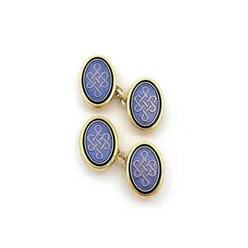 Blue Oval Cufflinks