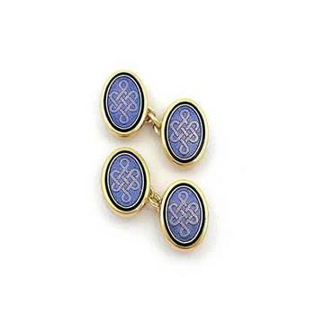 Blue Oval Cufflinks