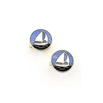 Blue Sailboat Cufflinks