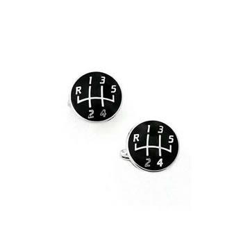 Black Gear Knob Cufflinks