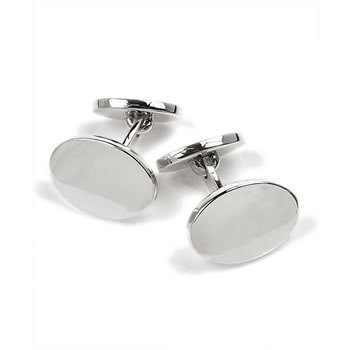 Sterling Silver Polished Engravable Elbow Style Cufflinks