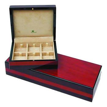Hillwood Teak Veneer Cufflink Box