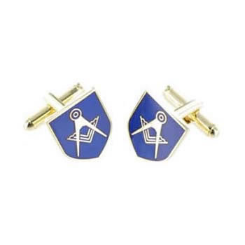 Navy Masonic Shield Cufflinks