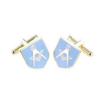 Light Blue Masonic Shield Cufflinks