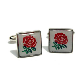Square English Rose Cufflinks
