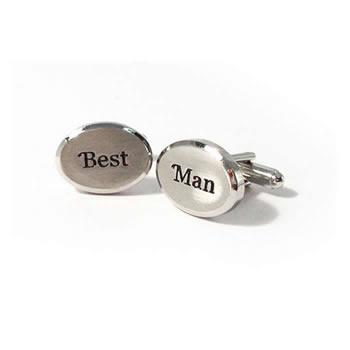 Text Best Man Cufflinks