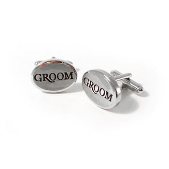 Groom Oblong Cufflinks