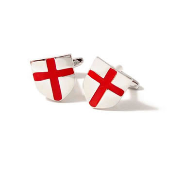 St Georges Cross Shield Cufflinks