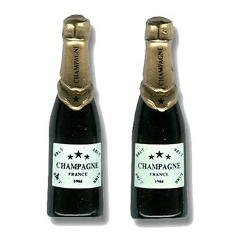 Champagne Bottle NoveltyCufflinks