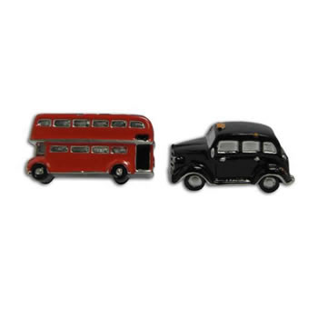 Routemaster Bus With Union Jack Roof And Taxi Cufflinks