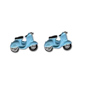 Blue Scooter Cufflinks