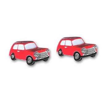 Mini With Union Jack Roof Cufflinks