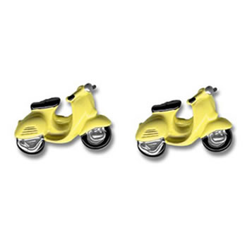 Pale Yellow Scooter Cufflinks