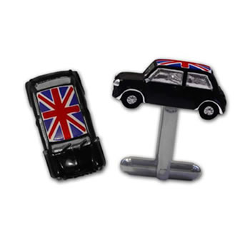 3D Mini Black Union Jack Cufflinks