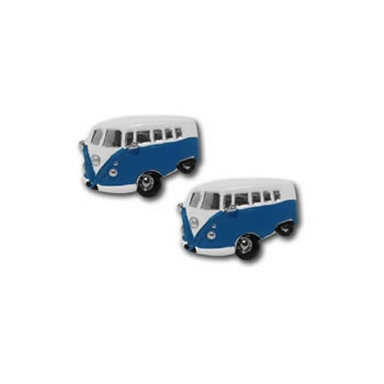 Camper Van Blue Cufflinks