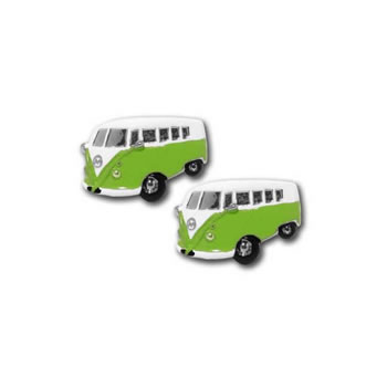 Camper Van Green Cufflinks