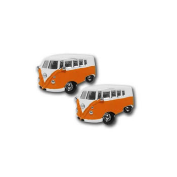 Camper Van Orange Cufflinks