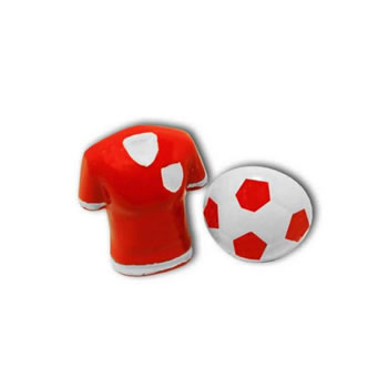 Football Shirt And Ball Red Cufflinks