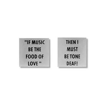 If Music Be The Food Of Love Cufflinks
