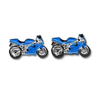 Blue Motorbike Cufflinks