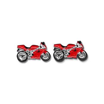 Red Motorbike Cufflinks