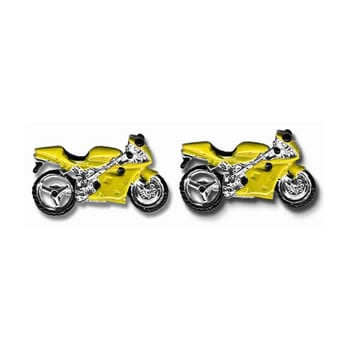 Yellow Scooter Cufflinks