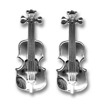 3d Violin Cufflinks