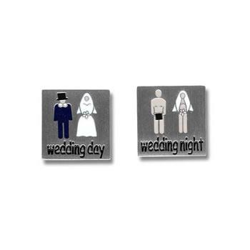 Wedding Day Wedding Night Cufflinks