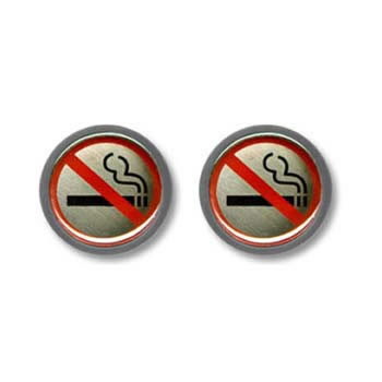 No Smoking Sign Cufflinks