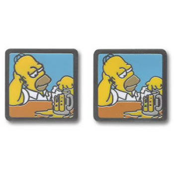 Simpsons Homer Beer Cufflinks
