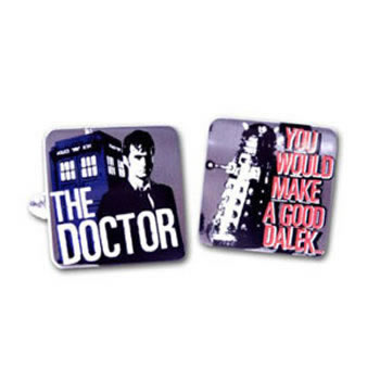 Dr Who Doctor And Dalek Cufflinks