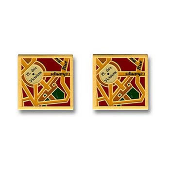 Enamel Paris Map Cufflinks