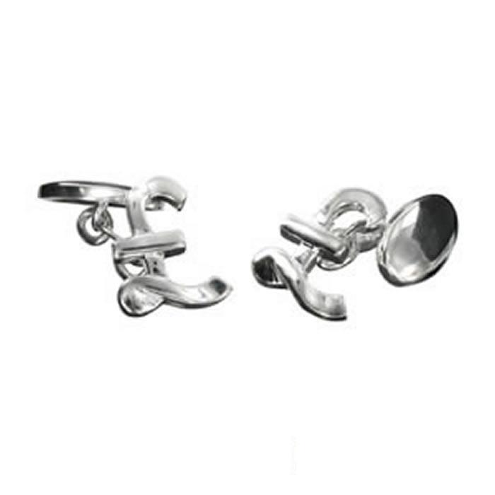 Sterling Silver Pound Cufflinks