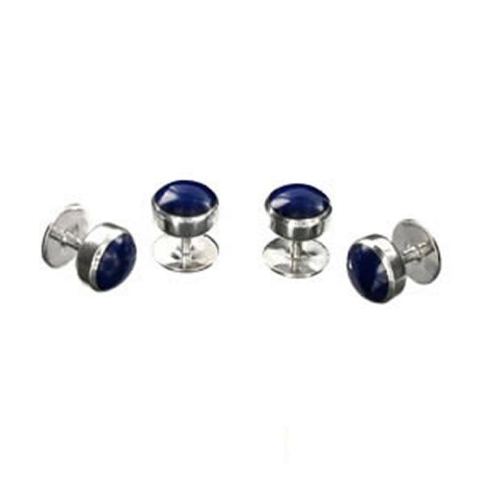 Sterling Silver Lapis Dress Studs