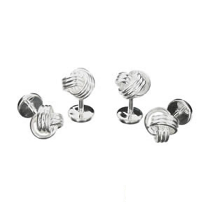 Sterling Silver Knot Dress Studs
