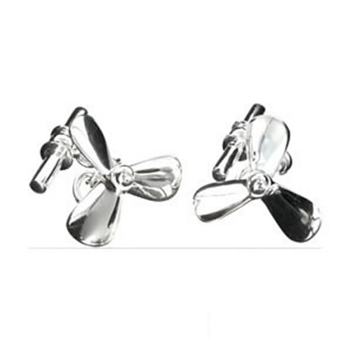 Sterling Silver Propellers Cufflinks